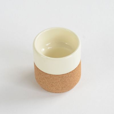 Ceramic and Cork Espresso Cup (White)